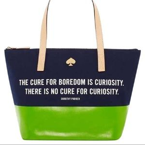 Kate Spade Quote Zip Tote
